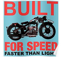 FASTER THAN LIGHT-RED Poster