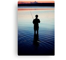 Determined to catch a fish Canvas Print
