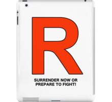 Team Rocket (Surrender Now or Prepare to Fight!) iPad Case/Skin