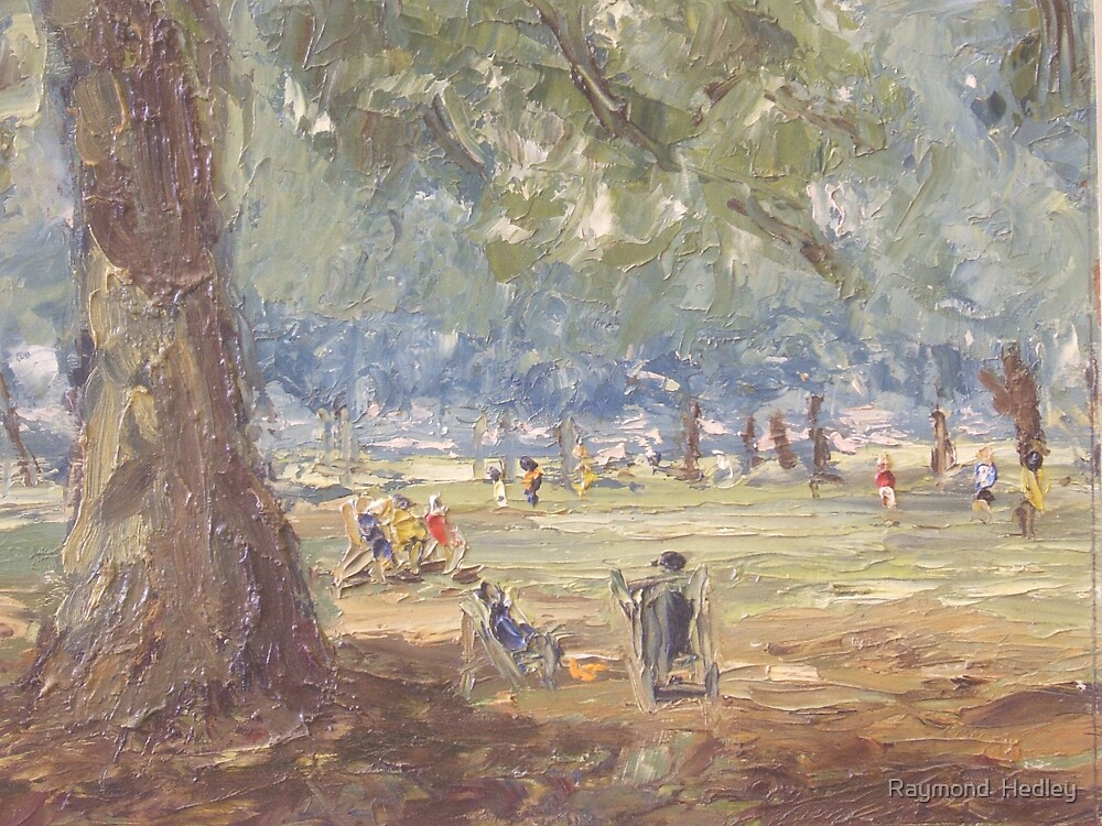 Green Park London Painted 1969 by Raymond  Hedley