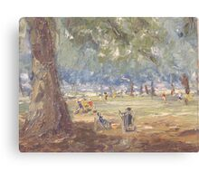 Green Park London Painted 1969 Canvas Print