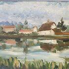 Farm by River by Raymond  Hedley