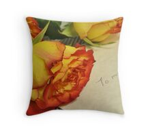 A friendly rose or two Throw Pillow