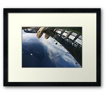 Bridge in the windscreen Framed Print