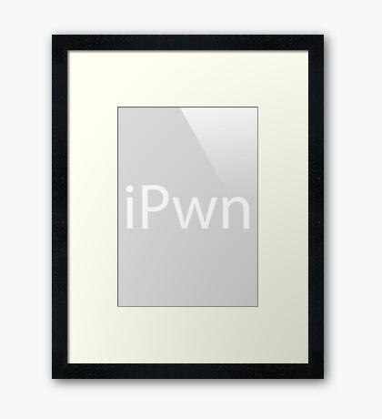 iPwn (Grey) Framed Print