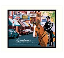 Greektown Detroit Art Print