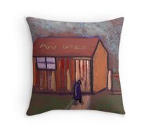 The worlds smallest post office Throw Pillow