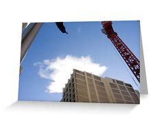 Cityscape and cloud Greeting Card