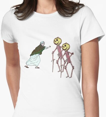 Scarecrows scare the hell out of granny Womens Fitted T-Shirt