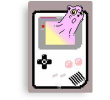 Merging Worlds ( Jigglypuff ) - Pokemon / Gameboy Canvas Print