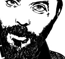 Justin Furstenfeld-Blue October Sharpie Drawing Sticker