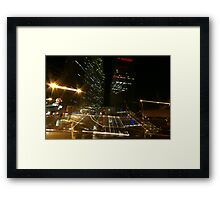 Impressions from a nonstop city Framed Print
