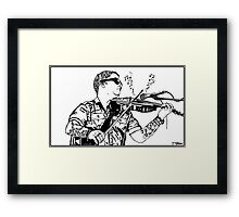 Ryan Delahoussaye - Blue October Sharpie Drawing Framed Print