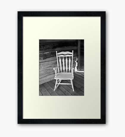 White Rocking Chair Framed Print