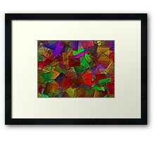 Colour Cubes-Available As Art Prints-Mugs,Cases,Duvets,T Shirts,Stickers,etc Framed Print