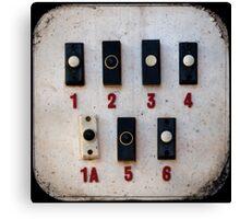Blackpool Doorbells Canvas Print
