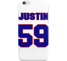 National football player Justin Ena jersey 59 iPhone Case/Skin