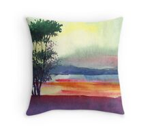 Evening Lights Throw Pillow