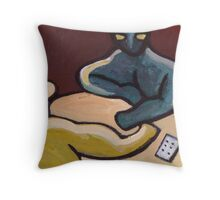 The card players abstract Throw Pillow