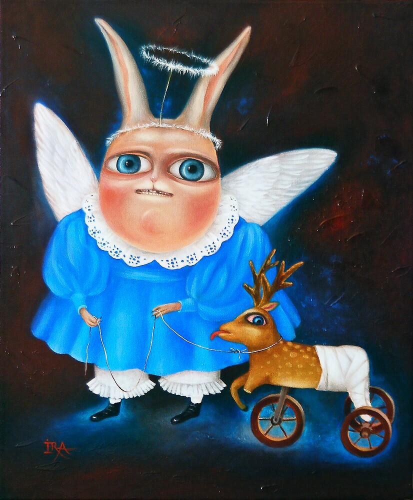 "Children's Games-2. 23"" x 19"". Original Painting - Request Price by Irena Aizen"