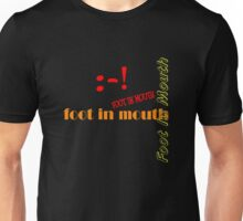 Foot In Mouth Unisex T-Shirt