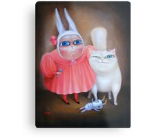 """Together forever 31"""" x 24"""". Original Painting - Sold Metal Print"""