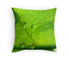 Double Droplets Throw Pillow