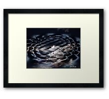 MoonRipple Framed Print