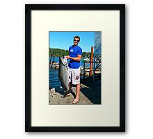 Daniel & His Catch Of The Day Framed Print