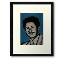 Charcoal and pastel portrait Framed Print