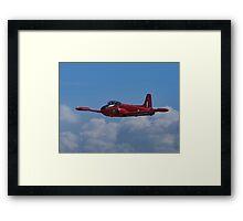 Red plane Framed Print