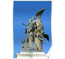 Sculpture, Monumento Nazionale a Vittorio Emanuele II, Rome Poster