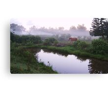 Diane in the Early Morning Fog Canvas Print
