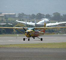 Aerial Patrol Cessna, Constellation In Background by muz2142