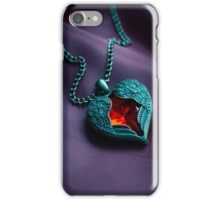 Winged heart with red gem iPhone Case/Skin