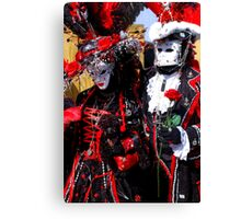 Black King & Queen of Hearts Canvas Print