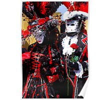 Black King & Queen of Hearts Poster