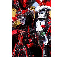 Black King & Queen of Hearts Photographic Print