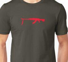 AK-47 with Tripod Unisex T-Shirt