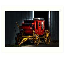 Wagons HO! Art Print