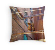 Vibrant Rust Throw Pillow