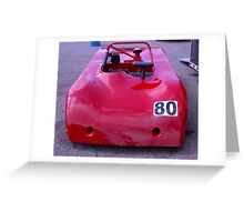 Don't need BUMPERS.... No ONE is ever in front! Greeting Card
