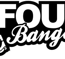 Four banger car sticker & Tshirt by printandroll