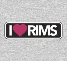 I LOVE RIMS - car tshirt, car sticker, fresh, static, slammed T-Shirt