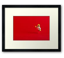 A Red Hello Framed Print