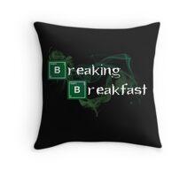 Breaking Breakfast Throw Pillow