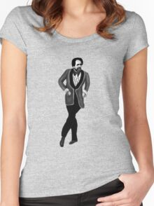 """George Jefferson - """"Get Down"""" Women's Fitted Scoop T-Shirt"""