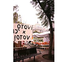 Protests and the Palace de Bellas Artes Photographic Print