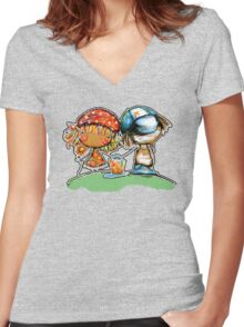Jack and Jill TShirt Women's Fitted V-Neck T-Shirt