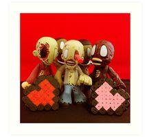 Zombie Valentines Art Print